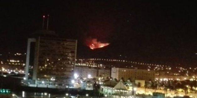 Un incendie à la frontière de Melilla près des camps de migrants