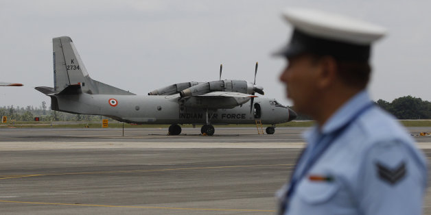 An Indian Air Force (IAF) AN-32 aircraft stands on the tarmac of Yelahanka air base ahead of Air Force Day celebrations in Bangalore, India, Wednesday, Sept. 23, 2015. The IAF was established on Oct. 8, 1932 as an auxiliary air force of the British Empire and has a strength of over 120,000 personnel, meant to defend Indian airspace and are also deployed for United Nations missions. (AP Photo/Aijaz Rahi)