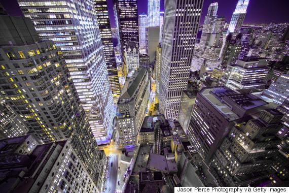 new york wall street at night