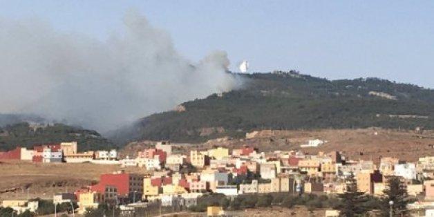 Extinction de l'incendie du mont Gourougou entre Nador et Melilla