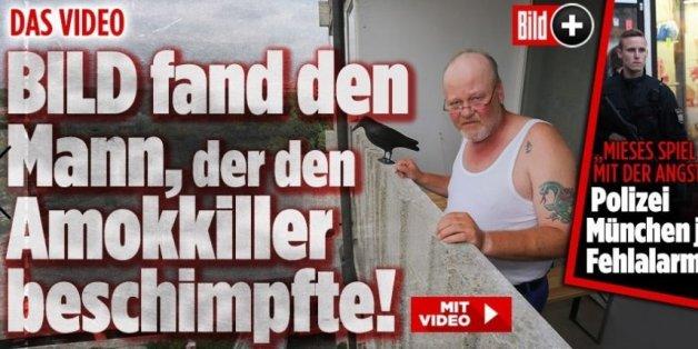 La presse allemande a retrouvé l'homme qui a insulté l'auteur de la fusillade de Munich