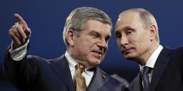 IOC-Präsident Thomas Bach und der russische Präsident Wladimir Putin