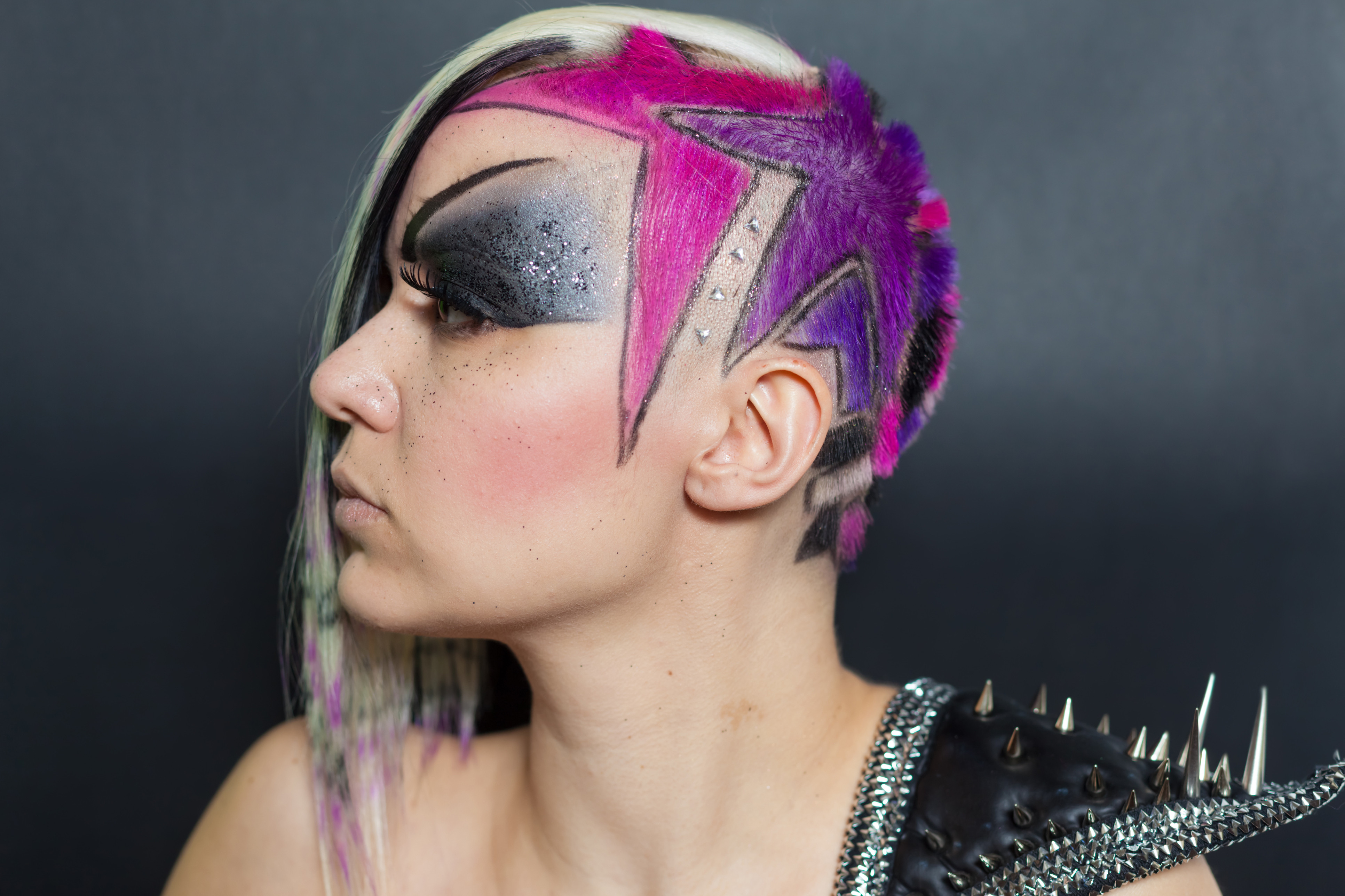 punk purple hair