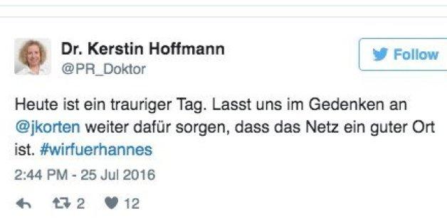Der Blogger Johannes Korten ist tot.