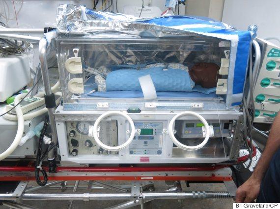 newborn cooling device