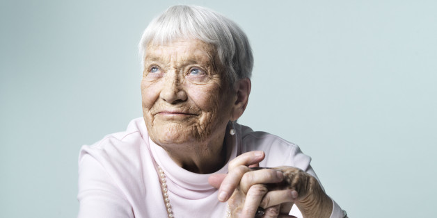 Mature woman thinking of all the good she has done and seen in life.