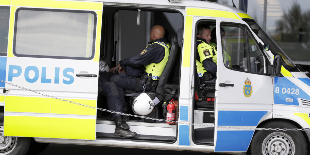STOCKHOLM, SWEDEN - JULY 24: Police at work prior the allsvenskan match between Hammarby IF and AIK at Tele2 Arena on July 24, 2016 in Stockholm, Sweden. (Photo by Nils Petter Nilsson/Ombrello via Getty Images)