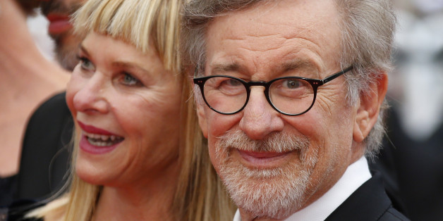 "Director Steven Spielberg and his wife Kate Capshaw pose on the red carpet as they arrive for the screening of the film ""The BFG"" (Le Bon Gros Geant) out of competition at the 69th Cannes Film Festival in Cannes, France, May 14, 2016. REUTERS/Yves Herman"