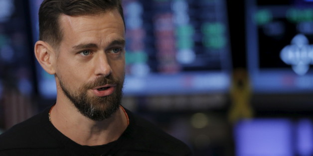 Jack Dorsey, CEO of Square and CEO of Twitter, speaks during an interview with CNBC following the IPO for Square Inc., on the floor of the New York Stock Exchange November 19, 2015. Square Inc priced shares at $9 for its initial public offering, about 25 percent less than it had hoped, as it struggled to win over investors skeptical about its business and valuation before trading begins on Thursday. REUTERS/Lucas Jackson