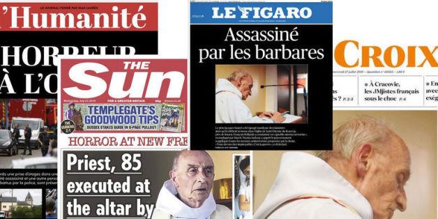 La presse française et internationale horrifiée au lendemain de l'attentat de Saint-Etienne-du-Rouvray