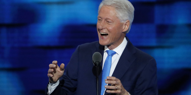 Former President Bill Clinton speaks during the second day of the Democratic National Convention in Philadelphia , Tuesday, July 26, 2016. (AP Photo/J. Scott Applewhite)