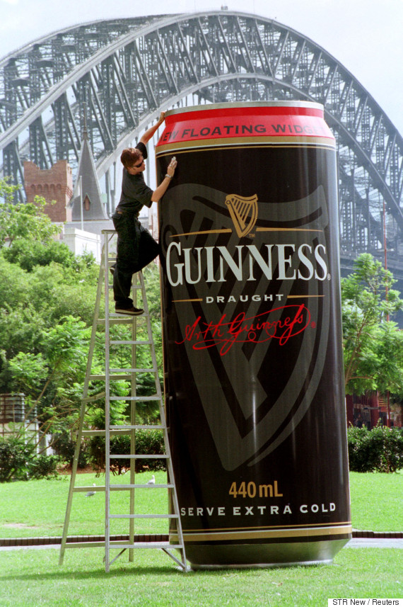 guinness can beer