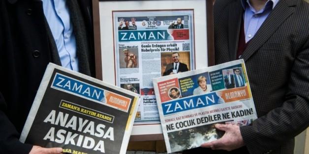 Le journal Zaman dans sa version éditée en Allemagne, le 5 mars 2016