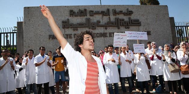 Nouvelle manifestation des étudiants en médecine au Maroc