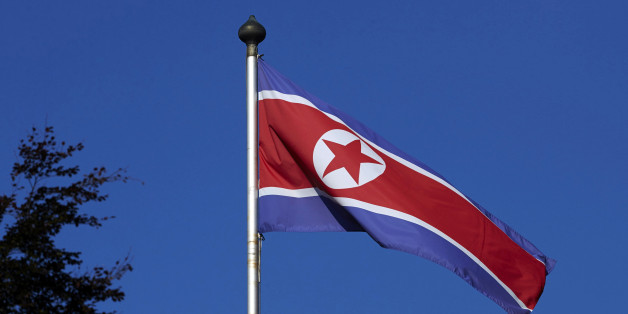 A North Korean flag flies on a mast at the Permanent Mission of North Korea in Geneva October 2, 2014.   REUTERS/Denis Balibouse/File Photo     TPX IMAGES OF THE DAY