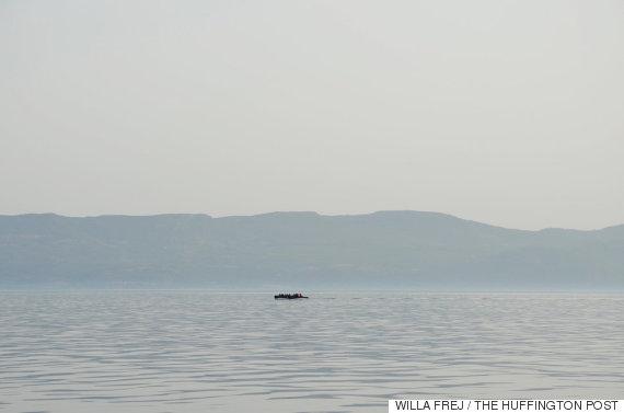 le sauvetage de 26 réfugiés en pleine mer égée