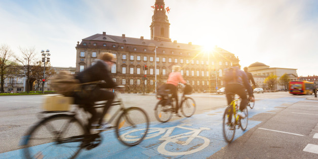 Radfahrer in der dänischen Hauptstadt Kopenhagen