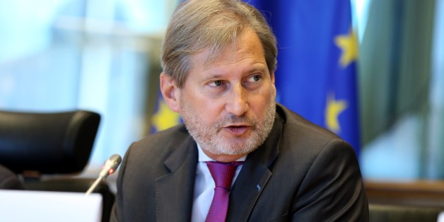 BRUSSELS, BELGIUM - JULY 19: Commissioner for European Neighbourhood Policy and Enlargement Negotiations, Johannes Hahn delivers a speech during the European Parliament Foreign Relations Committee extraordinary meeting over the military coup attempt in Turkey, in Brussels, Belgium on July 19, 2016. (Photo by Dursun Aydemir/Anadolu Agency/Getty Images)
