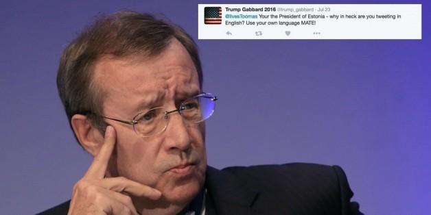 Amerikaner beleidigt Toomas Hendrik, den Präsident von Estland, über Twitter.