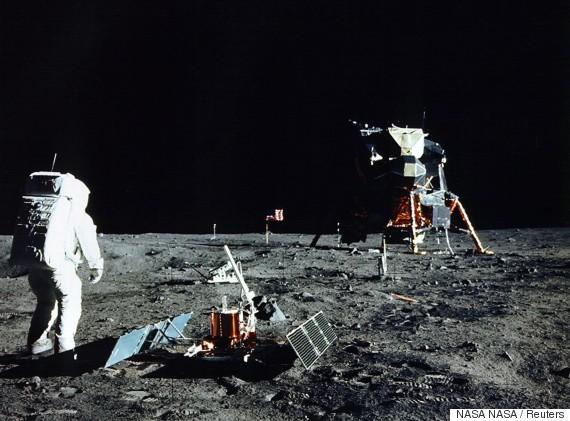 buzz aldrin moon photos