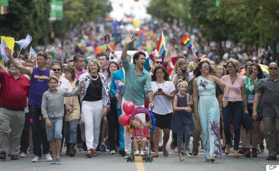 justin trudeau vancouver pride parade