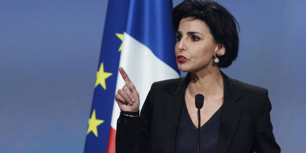 Former Justice Minister Rachida Dati speaks at a political rally for Nicolas Sarkozy, France's President and candidate for the 2012 French presidential elections, in Lille, February 23, 2012.  REUTERS/Pascal Rossignol  (FRANCE - Tags: ELECTIONS POLITICS)