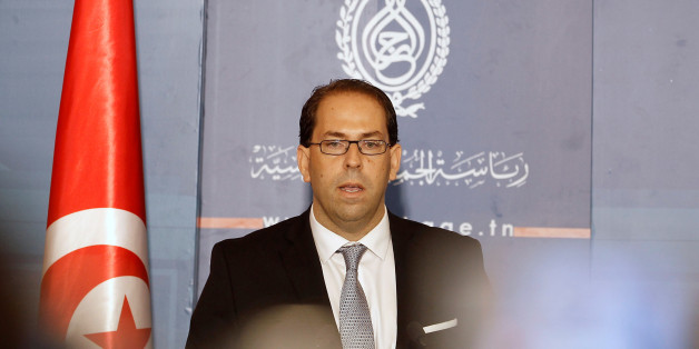Tunisia's Prime Minister-designate Youssef Chahed speaks during a news conference after his meeting with Tunisia's President Beji Caid Essebsi (not pictured) in Tunisia, Tunis August 3, 2016. REUTERS/Zoubeir Souissi