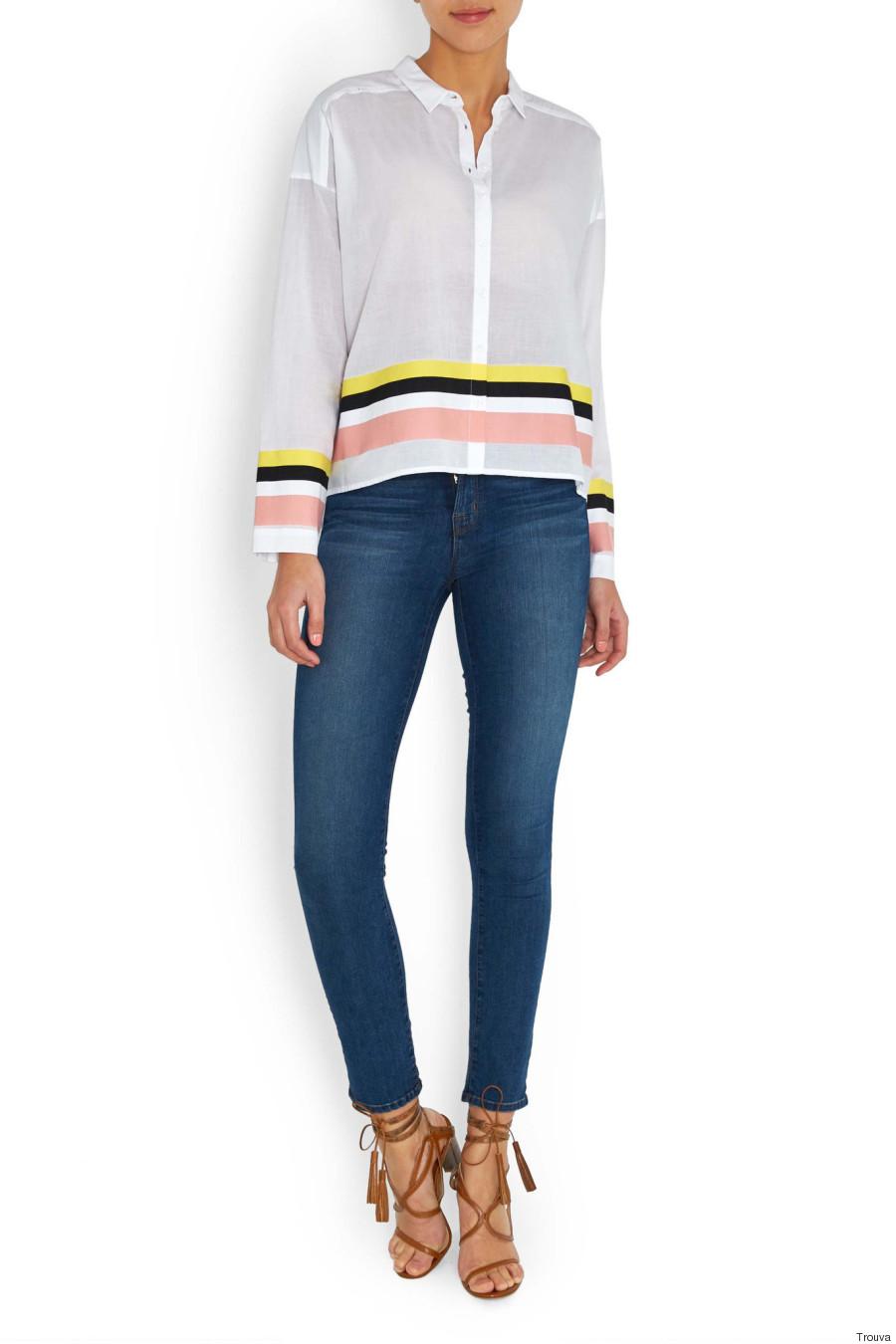 alysi white stripe shirt