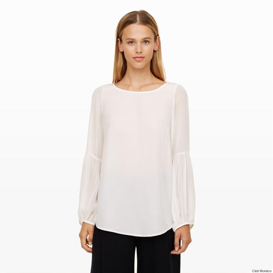 masserole flounce sleeve shirt