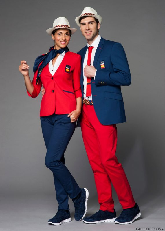 uniforme ceremona espana rio 2016