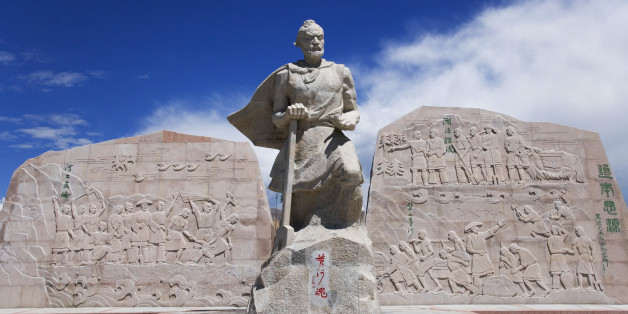 Dayu, often regarded with legendary status as Yu the Great was the first ruler and founder of the Xia Dynasty in China. He was born the year 2059 BC and is best remembered for teaching the people flood control to tame China's rivers and lakes.