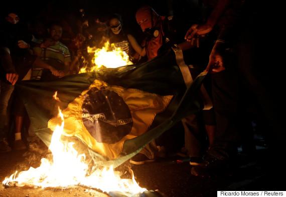 burn olympic flag