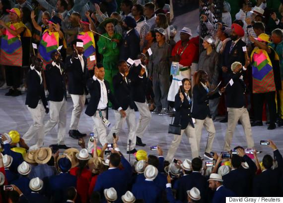 team refugee opening ceremony