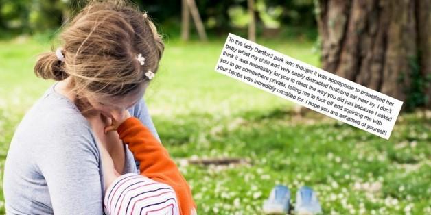 Sie beleidigte eine stillende Mutter - deren Reaktion ist noch viel krasser.