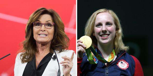 Il n'y avait que Sarah Palin pour faire de la récup' pro-armes à feu avec la 1ère médaille des JO