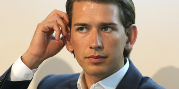 Austrian Foreign and Integration Minister Sebastian Kurz attends a news conference in Vienna July 28, 2014. Kurz presented Austria's 2014 integration report to the public. REUTERS/Leonhard Foeger (AUSTRIA - Tags: POLITICS)