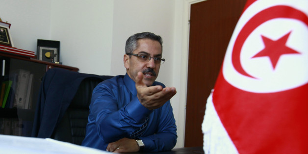 Chafik Sarsar, head of the Instance Superieure Independante pour les Elections (ISIE), speaks during an interview in Tunis May 3, 2014. Tunisia's next presidential and parliamentary elections will probably be held in the second half of November, the election agency chief said on Saturday, about polls that will mark the country's final step towards full democracy. REUTERS/Anis Mili (TUNISIA - Tags: POLITICS ELECTIONS)