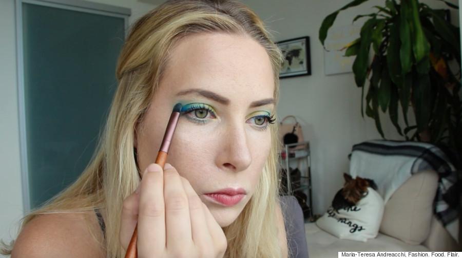 tropical eyes makeup