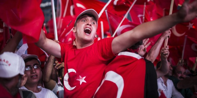 Erdogan-Unterstützer in Ankara