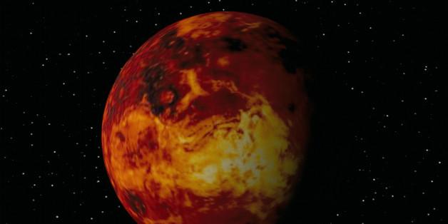 DIGITAL ILLUSTRATION OF VENUS IN SPACE