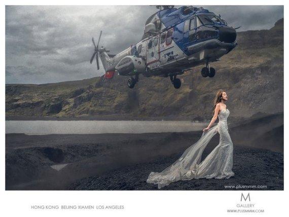 novia helicoptero
