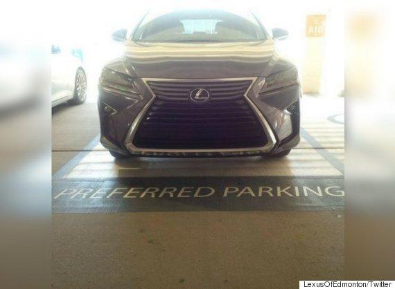 edmonton lexus parking