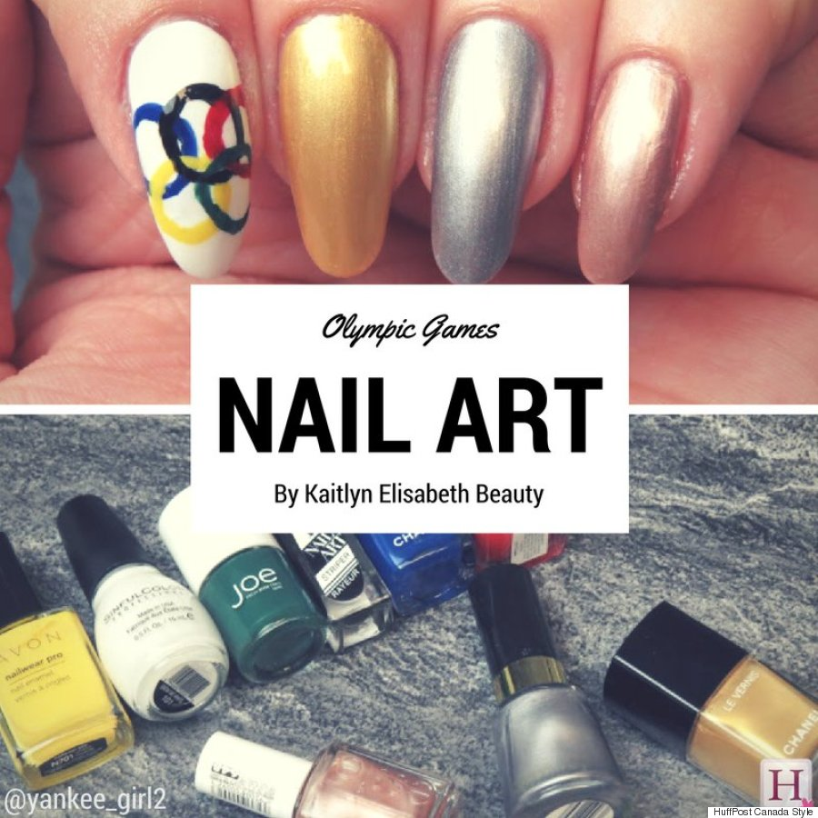Cheer On Team Canada With This Olympic Inspired Mani