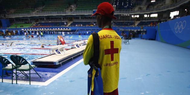 Ein Rettungsschwimmer bei den Olympischen Spielen in Rio.