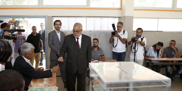 Abdelillah Benkirane, secretary-general of the Islamist Justice and Development party (PJD), arrives at a polling station in Rabat September 4, 2015. REUTERS/Youssef Boudlal