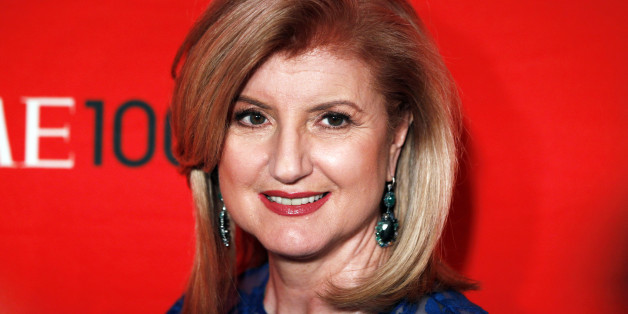 Arianna Huffington arrives at the Time 100 Gala in New York, April 24, 2012. The Time 100 is an annual list of the 100 most influential people in the last year complied by Time Magazine. REUTERS/Lucas Jackson (UNITED STATES - Tags: ENTERTAINMENT)
