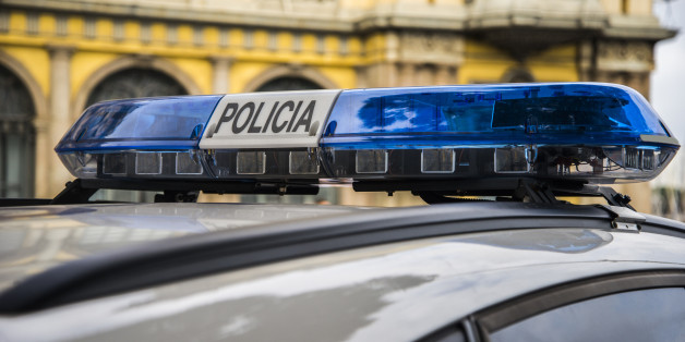 Detail of a Spanish police car