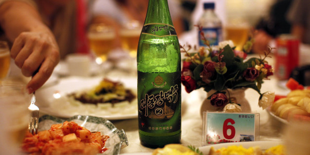 A bottle of beer is seen at a official dinner in Rajin at the Special Economic Zone of Rason City, northeast of Pyongyang August 29, 2011. Building a brewery in North Korea seemed like a good idea to a group of Chinese investors two years ago. The premise was simple: everyone likes beer, even in one of the world's most closed and least understood countries. But the small Chinese-North Korean venture ran aground within months after failing to get final approval from authorities in Pyongyang. Pict