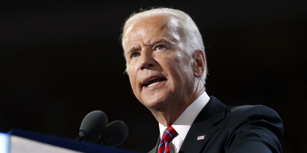 Vice President Joe Biden speaks during the third day session of the Democratic National Convention in Philadelphia, Wednesday, July 27, 2016. (AP Photo/Carolyn Kaster)