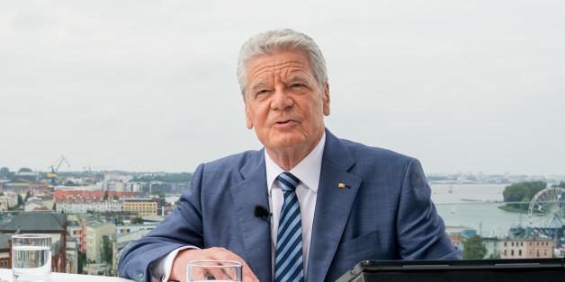 Bundespräsident Joachim Gauck beim Sommerinterview des ZDF